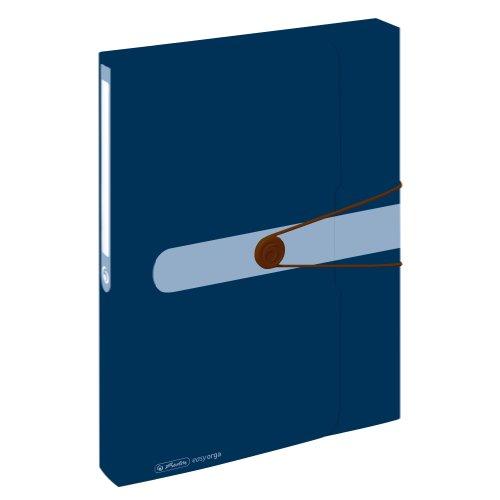 Herlitz 11279841 Sammelbox, Recycling A4 Polypropylen-Folie, Blauer Engel, dunkelblau