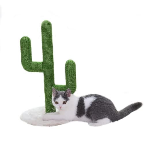 BingoPaw Katzenkratzbaum Kaktus Kratzbaum, Juteseil Kletterbaum Kratzpfosten Kratzstamm Interaktiv Spielzeug Fänger und Trainingsgerät Lustig Spielzeug Geschenk für Katzen und Kätzchen