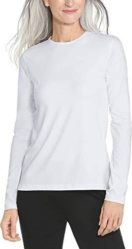 Coolibar UPF 50+ Women's Long sleeve T-Shirt - Sun Protective,Medium,White