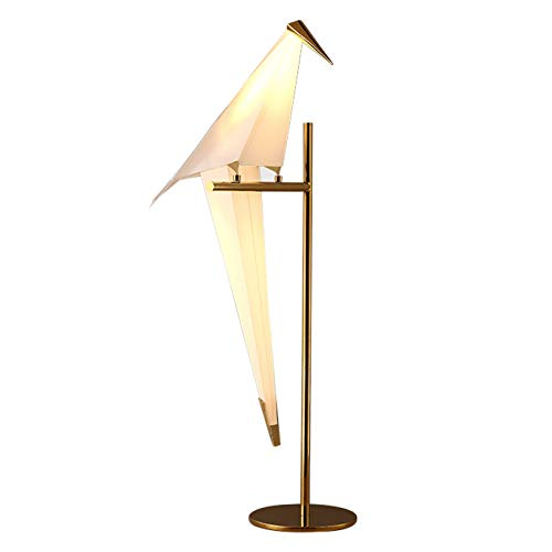 XLOO Lámpara de Mesa Thousand Paper Crane,Metal,Pantalla de PP de Protección del Medio Ambiente,Interruptor de Botón,se Utiliza en Dormitorio,Sala de Estar,Estudio,Mesita De Noche
