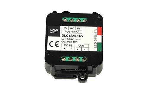 Dalcnet Easy Led Fader Dimmer Driver 12V 24V 10A Con Pulsante N.O. Push DLC1224-1CV