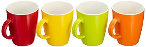Gimex Campingartikel Coloured Henkelbecher 4 Teilig Rainbow, 550/254