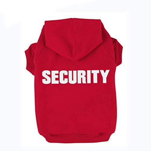 Trudz Pet Security Dog Hoodies, Rdc Pet Apparel Autumn & Winter Sweatshirt Warm Sweater, Cotton Jacket Coat for Samll Dog & Medium Dog & Cat (Pink, L) Review