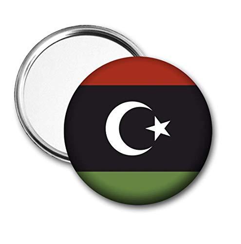 Libië Vlag Pocket Spiegel voor Handtas - Handtas - Cadeau - Verjaardag - Kerstmis - Stocking Filler - Secret Santa