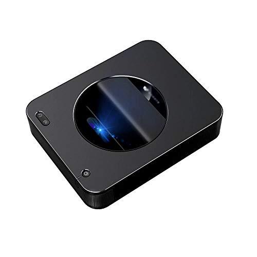 Proyector De Tiro Corto S6A 3000 Lúmenes Proyector DLP LED De Pantalla De 120 Pulgadas, Proyector De Tiro Ultra Corto, Batería Incorporada 15600MA / H (Negro)