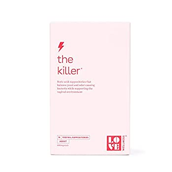 Love Wellness The Killer - Boric Acid Suppositories - Balance Yeast and Odor-Causing Bacteria and Support the Vaginal Environment - Supports a healthy Vaginal pH Balance - 14 Boric Acid Suppositories