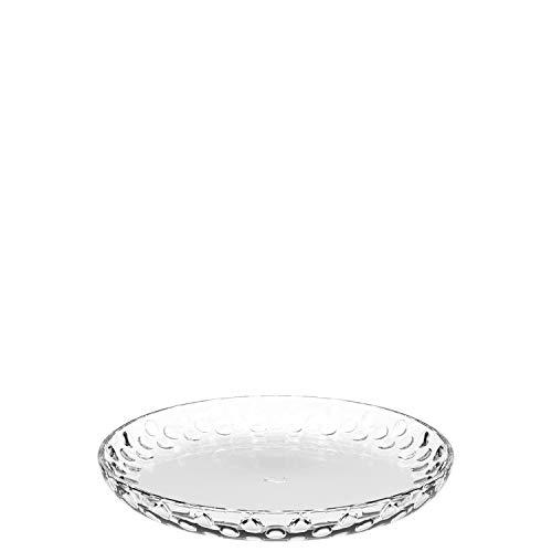 Leonardo Cucina Optic Glas-Teller, runde Ess-Teller aus Glas, spülmaschinengeeignete Speise-Teller, Ø 180 mm, 6er Set, 066339