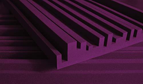 "Auralex Acoustics Studiofoam Metro Acoustic Absorption Foam, 2"" x 24"" x 48"", 12-Panels, Burgundy"