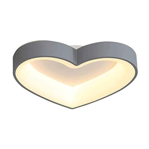 SPNEC Luz de Techo - Simple Coincidencia de Color Gris de diseño, iluminación Creativa en Forma de corazón, creando un Ambiente cálido y Confortable 32x10cm Inicio Medio Ambiente