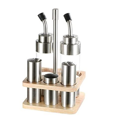 Spice Pot Juego de 5 piezas Conjunto para botellas Conjunto de ampollas con conjunto de clavos de clavos Caja de especias Contador de acero inoxidable Acero inoxidable Conjuntos Utensilios de cocina