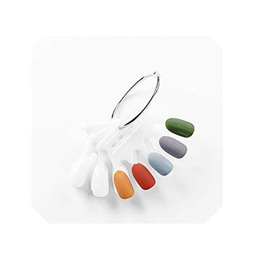 5X10 pcs Faux Ongles 1 Set Faux Ongles Conseils Couronne Clair Faux Ongles Art Affichage Outils D'exercice Pratique Faux Conseils Manucure Salon-blanc-