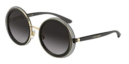 Dolce & Gabbana 0DG6127 Gafas, Transparent Grey/Gold, 52 para Mujer