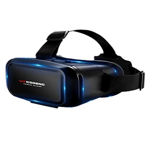 VR GRAFERS VIRTUAL REALIDAD GOGGLES.3D VR GRAVELES VERDADES VIRTUAL REALIDAD Auriculares Gafas Soporte 0-600 Myopia para el juego de películas 4.7-6.1inch teléfonos inteligentes Negro