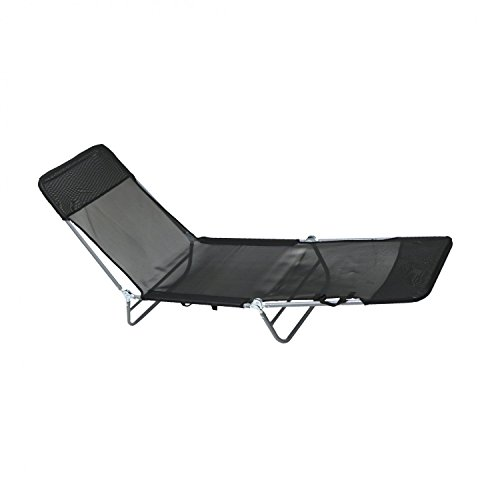 Oypla Folding Reclining Sun Lounger Beach Garden Camping Bed Chair