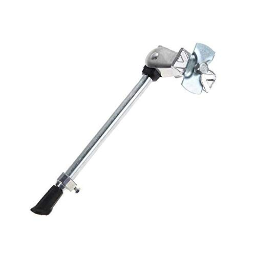 MBD Mountain Bike Bicycle Kick Stand Adjustable Strong Alloy Kickstand Bicycle Support Side Stand XHJ-20 (Color : White)