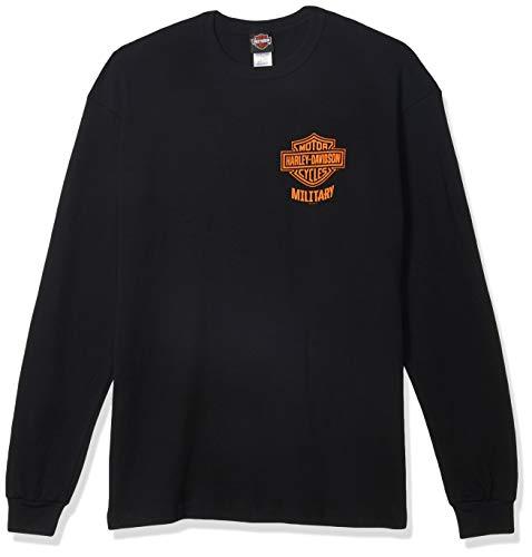 Harley-Davidson Military - Men's Black Bar & Shield Long-Sleeve Thermal Shirt - Overseas Tour XL