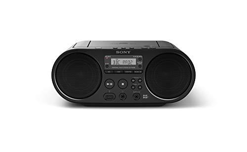 Sony ZS-PS55B Stereo Portatile con Lettore CD, FM/DAB, Porta USB per Registrazione, Nero