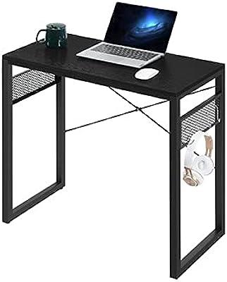 YiFeel Bureau d'ordinateur, Bureau à Domicile de 100 cm, Table de Bureau avec 8 Bonus supplémentaires, Bureau Robuste, Bureau PC de Style Simple et Moderne, Noir UFCD008BB