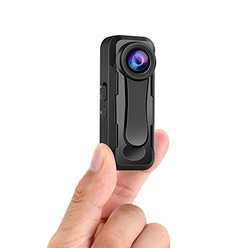 W1 Small Body Camera, BOBLOV Small Body Camera, True 1080P High Video Sensor, Easy to Set up and Time Stamp On/Off Optional Lightweight for Hiking, Bicycle, Lecture, Self-Protection(Card not included)