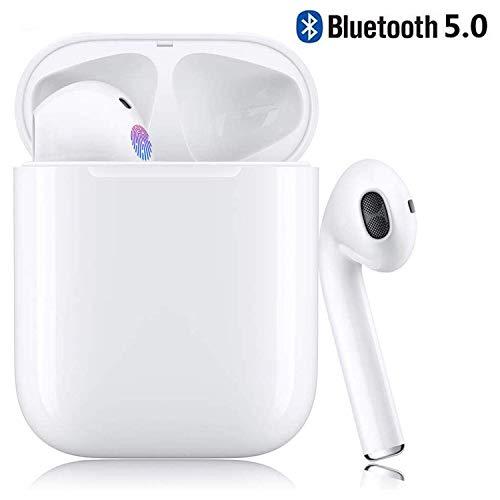 Kopfhörer mit Geräuschunterdrückung, Bluetooth Headset 5.0, IPX5 wasserdicht mit Ladekoffer, Kann 20 Stunden lang spielen, Geeignet für Apple Airpods Android / AirPods Pro / Android / iPhone / Samsung