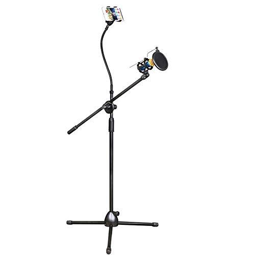 HYCZW Microfoon Stand, Microfoon Stand met Mic Clip Gratis Verstelbare Clips Bureau Microfoon Boom Arm Ultra-Licht voor Eenvoudig Vervoer Inklapbare Statief Boom Stand