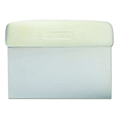 """Dexter-Russell - Sani-Safe 19783 6"""" x 3"""" White Dough Cutter/Scraper with Polypropylene Handle"""