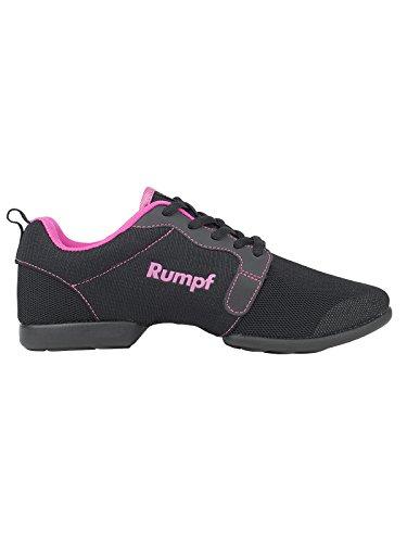 Rumpf 1510 Mojo Dancesneaker Tanzsneaker Tanzschuhe Hip Lindy Hop Gymnastik Trainings Hallen Aerobic Schuhe Schwarz/Pink, Schwarz/Pink, 40.5/41 EU