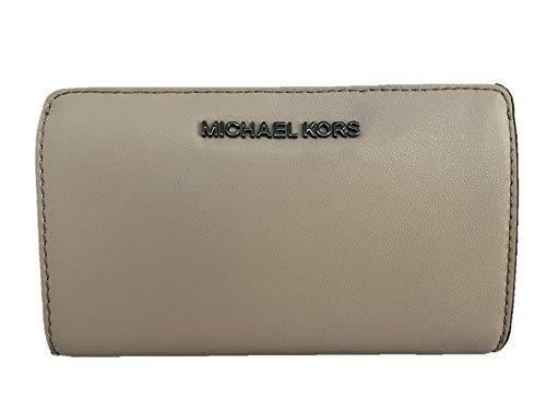 Michael Kors Jet Set Travel Slim Bifold Leather Wallet - Cement