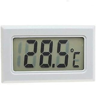 hkwshop Higrómetro para Interior Termómetro multifunción Higrómetro Monitor de Humedad electrónica automática Reloj de Mon...