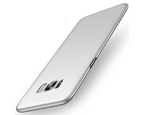 EIISSION Samsung Galaxy S8 Hülle,Hardcase Ultra Dünn Samsung Galaxy S8 Schutzhülle aus Hart-PC Case Cover Handyhülle für Samsung Galaxy S8,Silber
