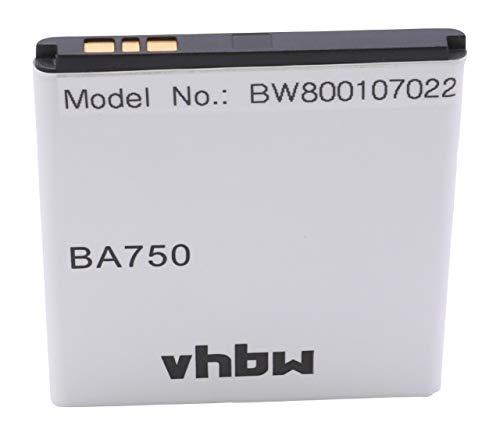 Batería Li-Ion 1500mAh (3.7V) Marca vhbw para teléfonos SonyEricsson Xperia X12 Acro...