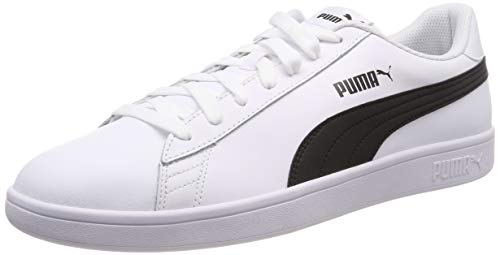 Puma Puma Smash v2 L Scarpe da Ginnastica Basse Unisex - Adulto, Bianco (Puma White-Puma Black), 42 EU (8 UK)