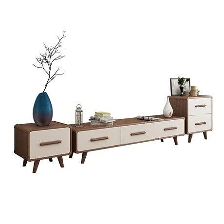 HYY-YY Soportes de TV para sala de estar, muebles para el hogar, roble de madera maciza, mueble de TV y mesa de TV, soporte para monitor de muebles madeira (color: blanco)