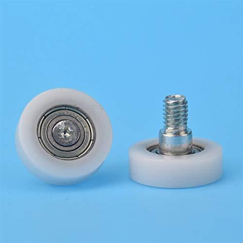 Farleshop 1pc M6 * 22 * 7 mm DR22 Tornillo M6, Cajón Frigorífico Impresora, Caja registradora, Avión con Revestimiento plástico roldana de rodamiento (tamaño : 6 * 22 * 7)