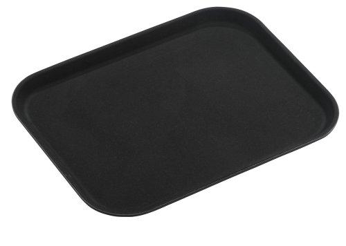 Grunwerg PNB-1216 Tuffgrip Super - Bandeja de plástico en caja de regalo blanca - Rectangular, negro, 40 x 30 cm, 40,6 x 30,5 cm de diámetro