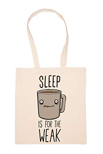 Coffee Lover Sleep Is For The Weak Tasche Wiederverwendbar Einkaufen Lebensmittel Baumwolltuch Tote Reusable Shopping Bag