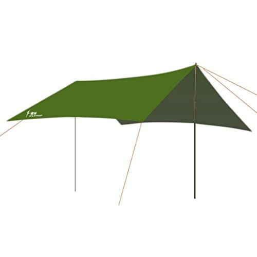Generic Tente Parcours Extérieur de L'auvent de Pêche de Camping Imperméable Couverture Abri - Taille Unique, Vert