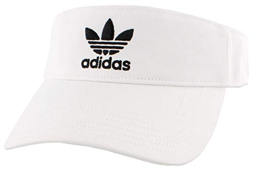 adidas Originals Unisex Twill Visor, White/Black, ONE SIZE
