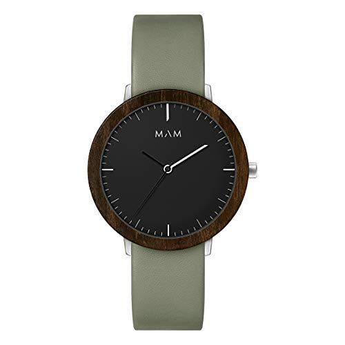 Reloj Mam 625 Ferra Ébano Piel Verde Hombre