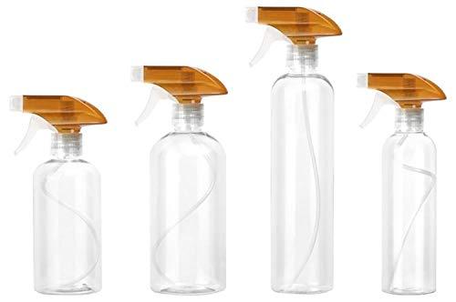WBFN Preuve de Fuite, Bouteille Vide Transparent for Chimiques et Solutions de Nettoyage, tête réglable Vaporisateur Paquet de 4 Bouteilles de pulvérisation étanche (Color : 1)