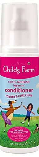 Childs Farm - Coco-Nourish Leave In Conditioner for Dry, Curly & Coily Hair, Detangles, Sensitive Scalp & Skin, 125ml