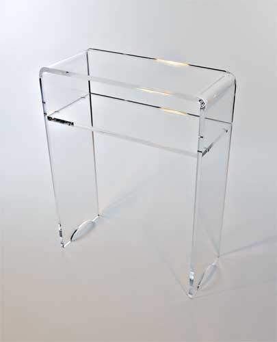 Form XL - Console Vide Poche Transparente en Plexiglas - 58 x 25 x 74 cm