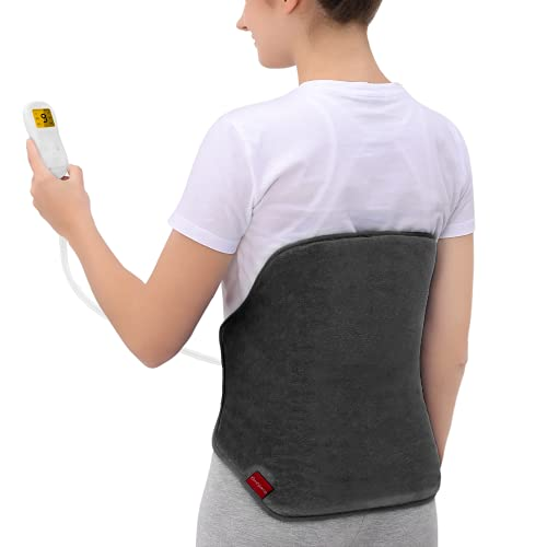 Upgraded Heating Pad for Back Pain Relief,...