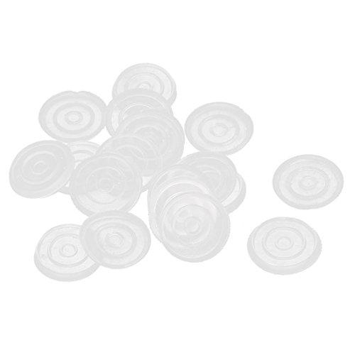 sourcingmap Protection pour Meubles Ronde en plastique antidérapant Tapis de table en verre 18mm Dia Lot de 20