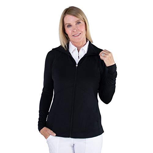 Jofit Apparel Women's Athletic Clothing Lightweight Jacket for Golf & Tennis, Size Medium, Black