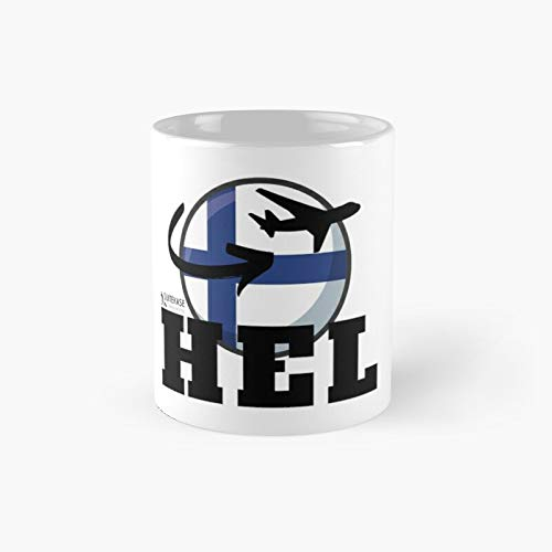 Hel Airport Iata Collection Classic Mug for Kids, Fathers Day, Mothers Best Gift Family and Your Friends, Yourself, Funny Coffee Mugs 11 Oz