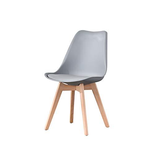 ArtDesign FR Silla Nórdica (Pack 4) - Silla Escandinava Gris - Silla Nordic Scandi