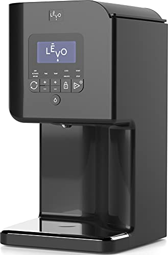 LĒVO II - Herbal Oil and Butter Infusion Machine - Botanical Decarboxylator, Herb Dryer and Oil Infuser - Mess-Free and Easy to Use - WiFi-Enabled via Programmable App (Jet Black)