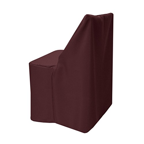 Ultimate Textile -25 Pack- Polyester Folding Chair Cover - Fits Wood Folding Chairs, Burgundy Red