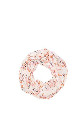 s.Oliver RED LABEL Damen Schlauchschal mit Allovermuster cream floral AOP 1